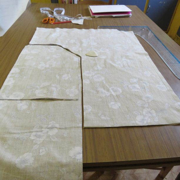 zero waste top toile cut out