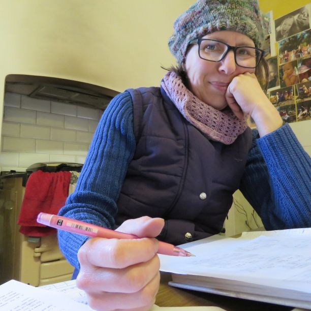 Liz Haywood draws for the zero waste hoodie top