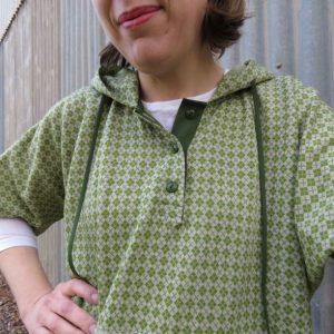 hoodie top knit fabric experiment closeup