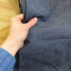 zero waste hoodie top japanese chambray