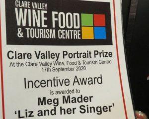 Meg Mader's award Clare Valley Portrait Prize