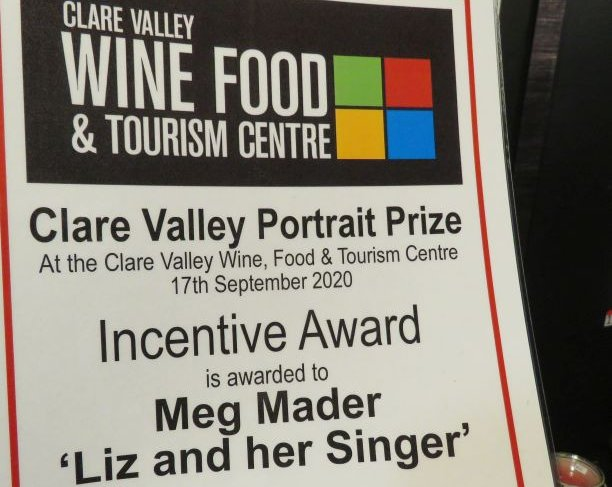 Meg Mader's award Clare Valley Portrait Prize