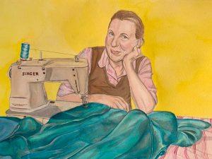 Meg Mader's portrait of Liz Haywood