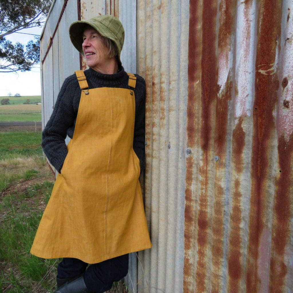 Smith Pinafore dress mustard version