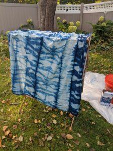 Sawyer hoodie fabric indigo dyed