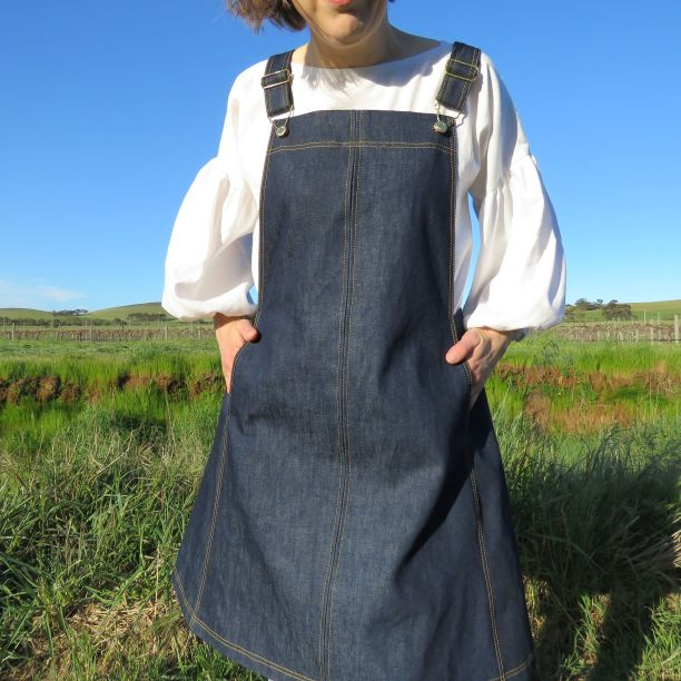 Smith Pinafore worn with white top