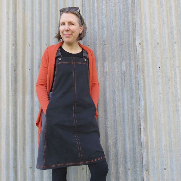 smith pinafore dress from old jeans