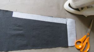 extra interfacing for the smith pinafore made from old jeans