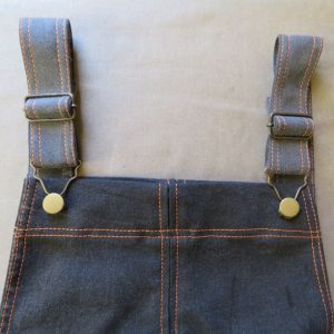 top of smith pinafore dress made from old jeans