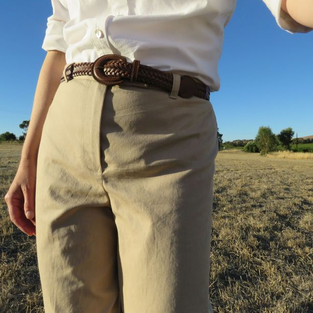 Holly McQuillans spiral trousers taupe