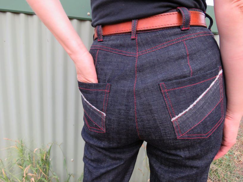 back view of jeans