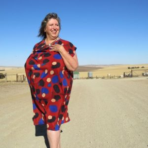 Ursa dress in silk georgette from Tessuti