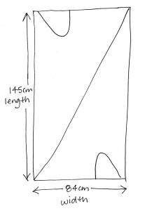 Holly McQuillans spiral trousers sketch of size