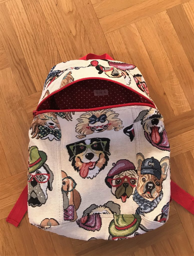 Compact backpack for a 7 year old