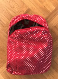 Spotty lining for Compact backpack