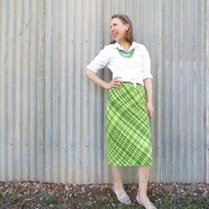 Zero waste spiral skirt for Ashford