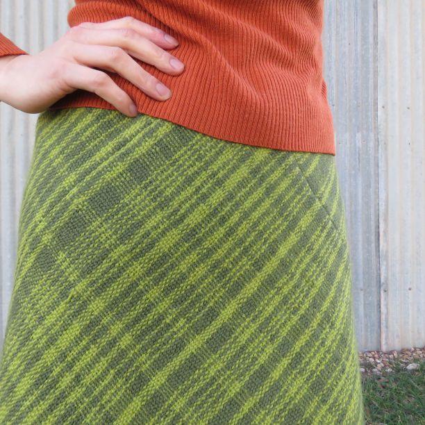 Tekapo 3ply wool skirt closeup