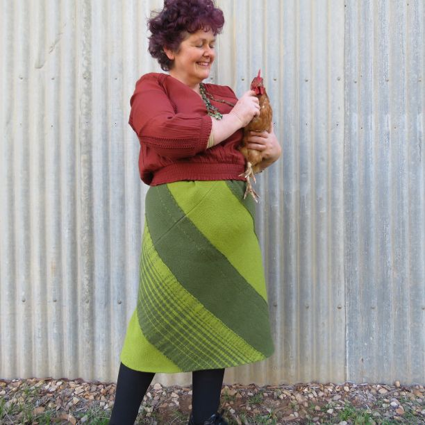 Ashford spiral skirt Tekapo wool