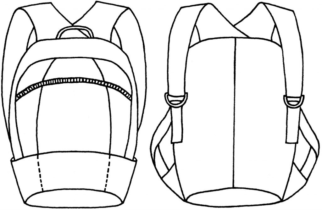 Compact backpack sketch