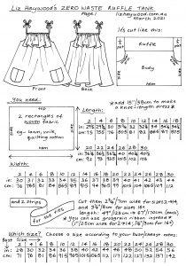 Ruffle tank Page 1 instructions