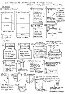 Ruffle tank Page 2 Instructions