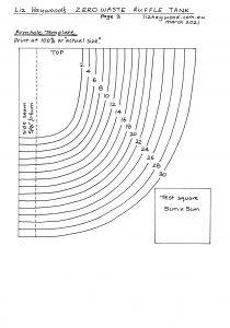 Ruffle tank Page 3 armhole template