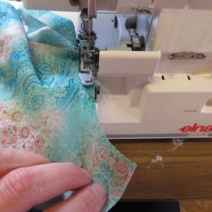 Ruffle tank sewing 5 overlocking curves