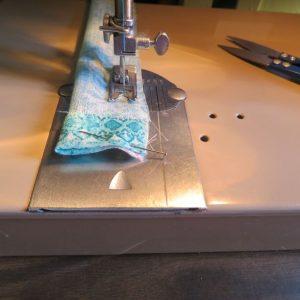 Ruffle tank sewing 8 making ties
