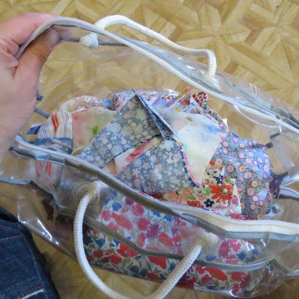 Floral scrap bag