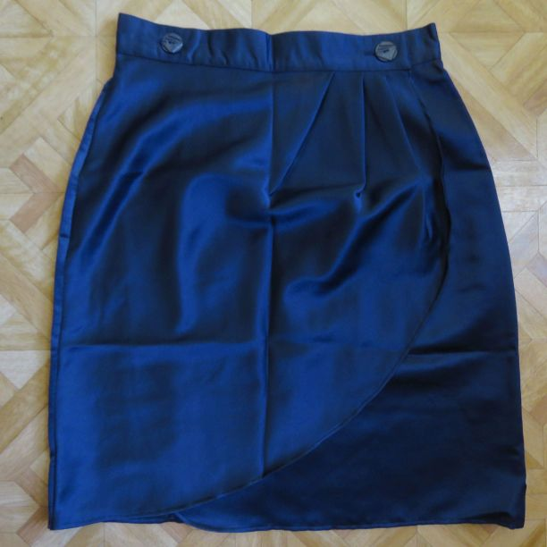 1991 grad parade navy wrap skirt