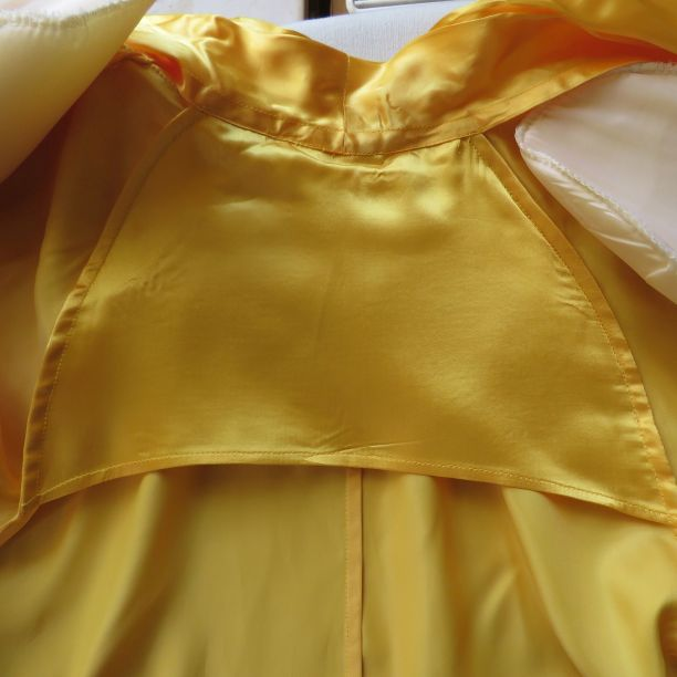 1991 grad parade yellow swing coat back stay