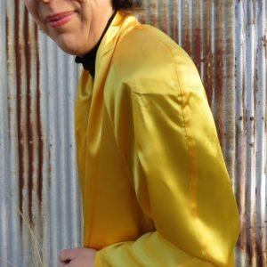 1991 grad parade yellow swing coat shoulder pad