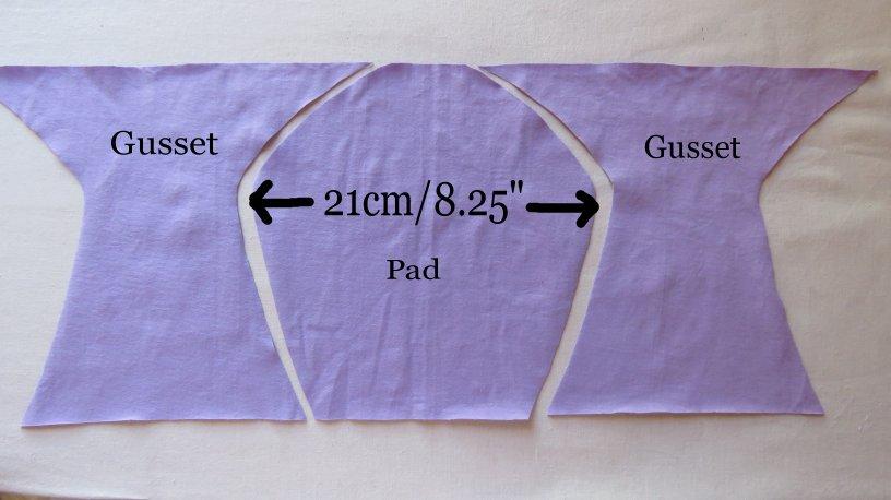 Zero waste gusset on undies 1 layout with text