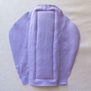 Zero waste gusset on undies 6 reverse side of towelling
