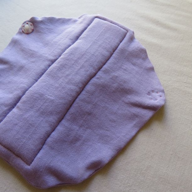 Zero waste gusset on undies 7 sew press stud on