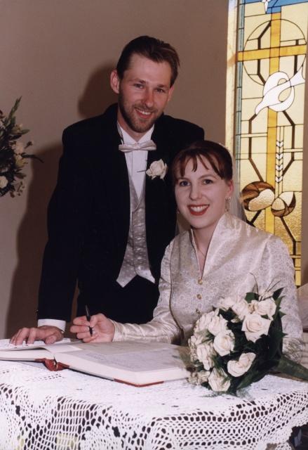 The happy couple 22 years ago