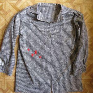 Sandie shirt unfinished in stripes