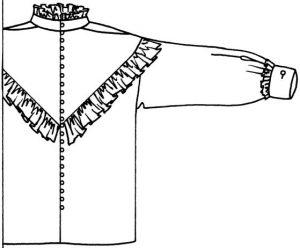 Sandie shirt with ruffles