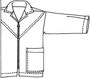 Sandie shirt with zip sketch