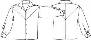 Sandie shirt sketch