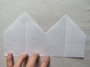 Sandie shirt in chevron stripes in paper