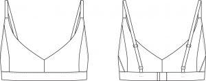 Zero Waste Wardrobe bra sketch
