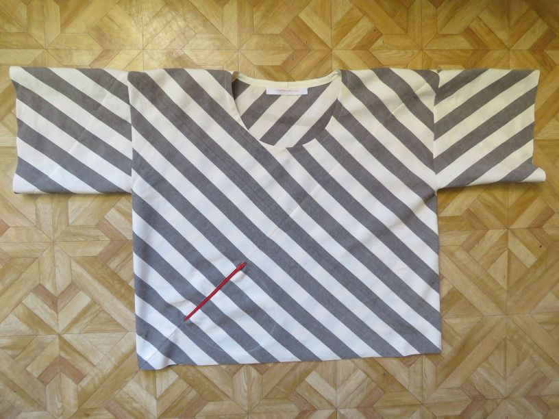 Xanthea in stripes front