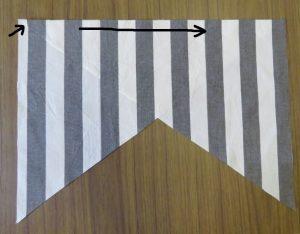 Xanthea in stripes sleeve