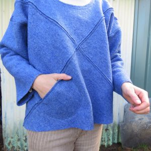 Xanthea in boiled wool with slot seams