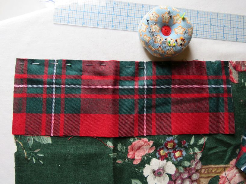 heat bag piecing the fabric