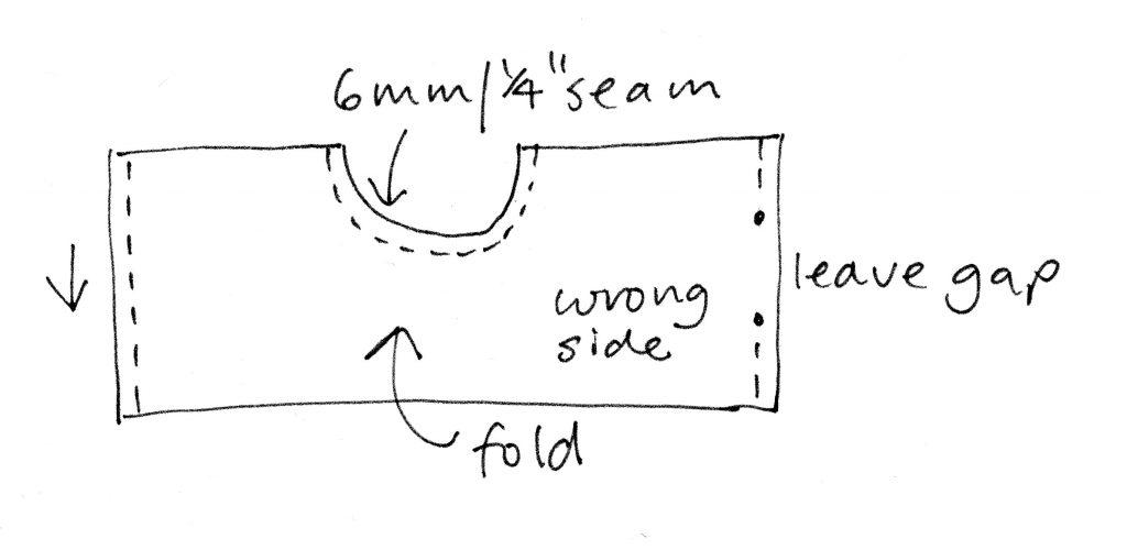 heat bag sewing