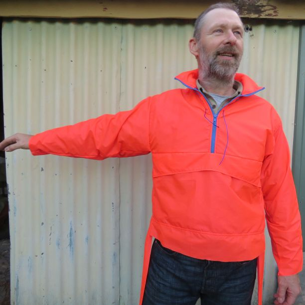 Mr Haywood modelling the Kiabi windbreaker