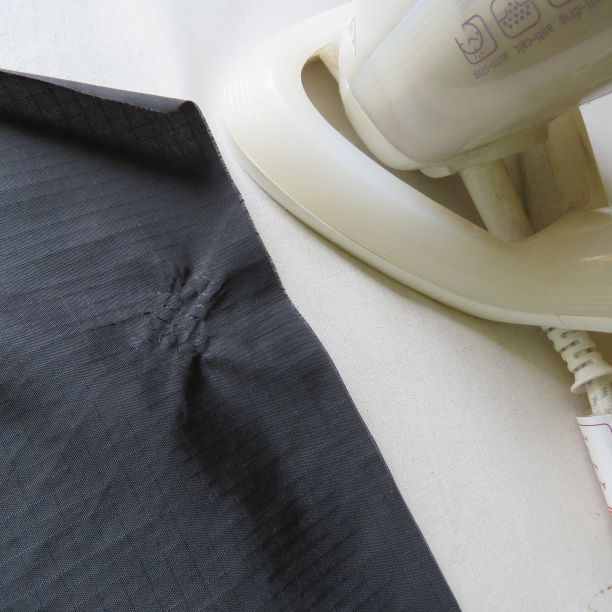 Uh oh! Damaged fabric from the too-hot iron