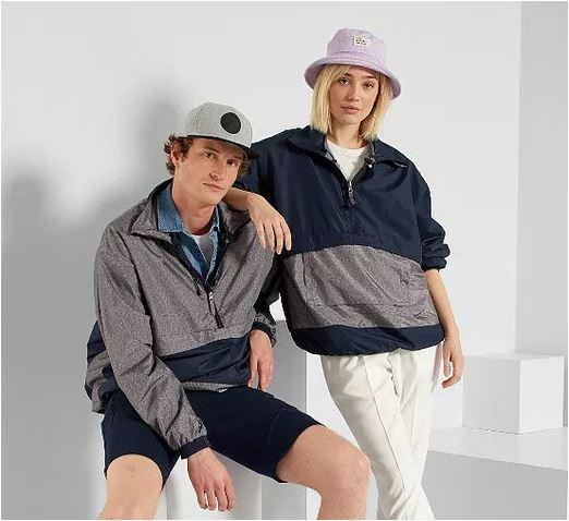 Kiabi windbreaker zwdo garment photo